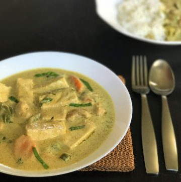 Thai Green Curry Tofu Instant Pot Pressure Cooker