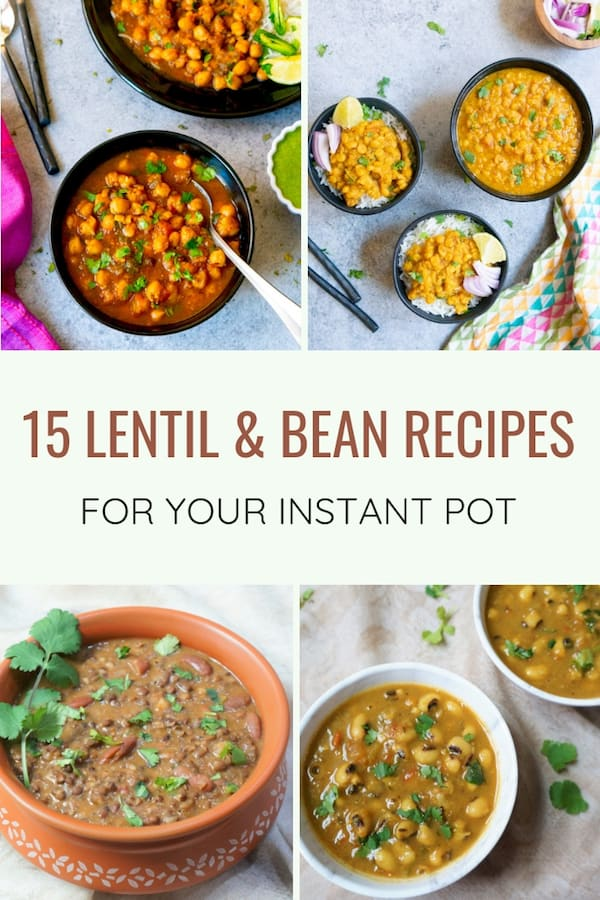 Looking for ideas of how to add more plant based proteins to your diet, check out this roundup of Indian lentils and beans   #recipe #indian #lentils #legumes #beans #curry #instantpot #pressurecooker   pipingpotcurry.com