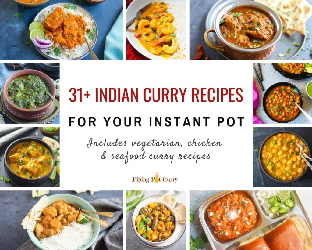 Instant pot indian curry recipes collage