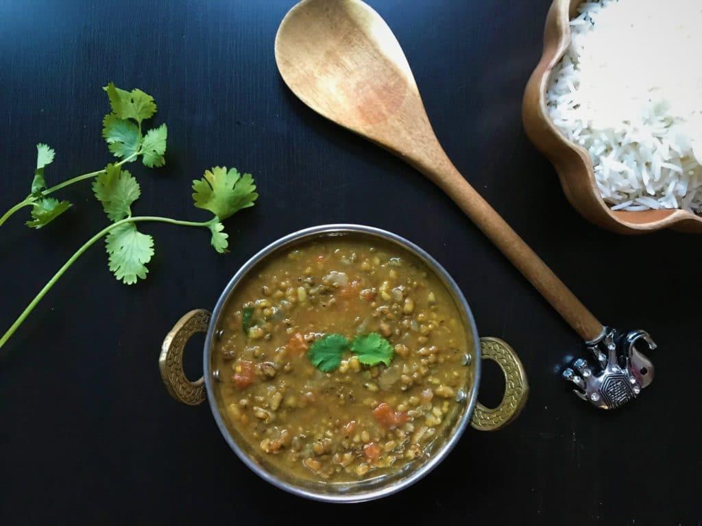 Green Moong Dal Green Lentils Instant Pot Stovetop