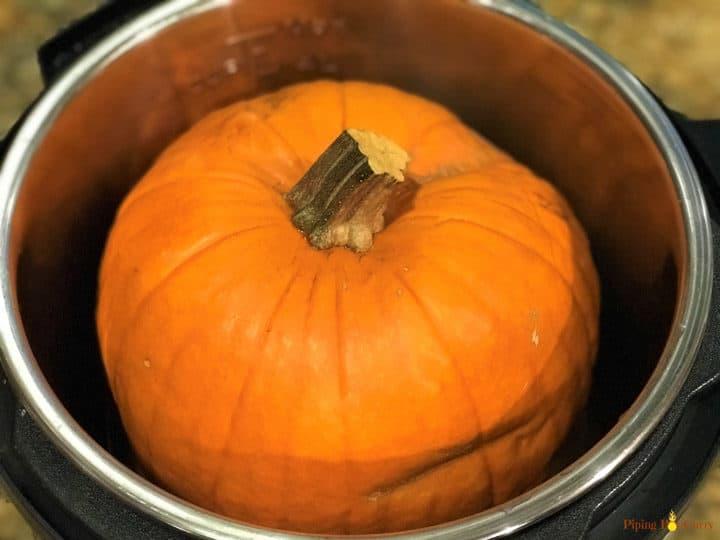 Instant Pot Pumpkin Puree - Pumpkin in the pot