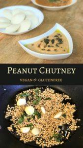 Super easy Peanut Chutney or Groundnut Chutney. A delicious and nutritious accompaniment to south indian favorites - idli and dosa | #chutney #peanut #groundnut #dip #southindian #indian #vitamix #blender #recipe #idli #dosa #vegan #glutenfree | pipingpotcurry.com
