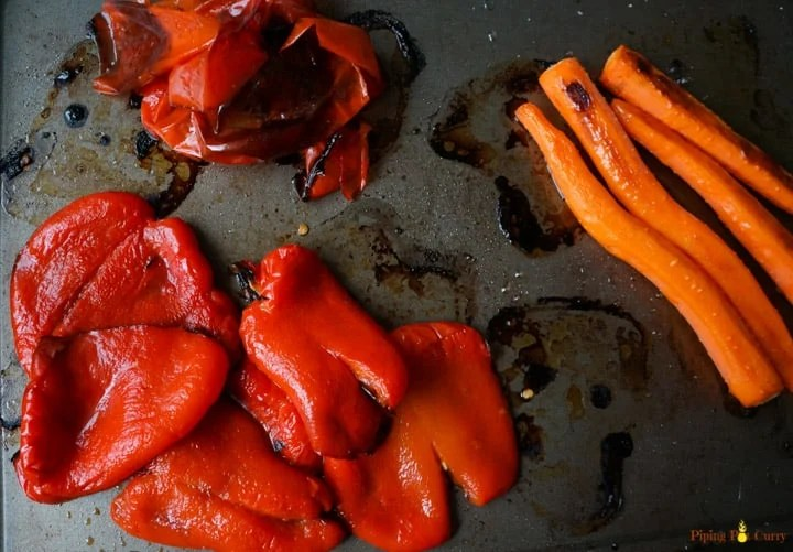 Roasted Red peppers skin removed