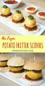 Air Fryer Potato Fritter Sliders