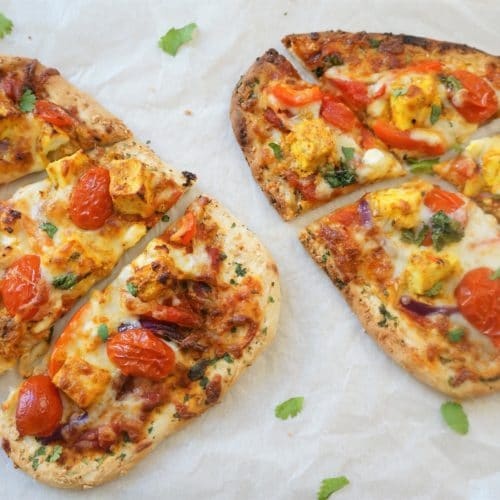 Tanddori Paneer Naan Pizza Air Fryer Oven