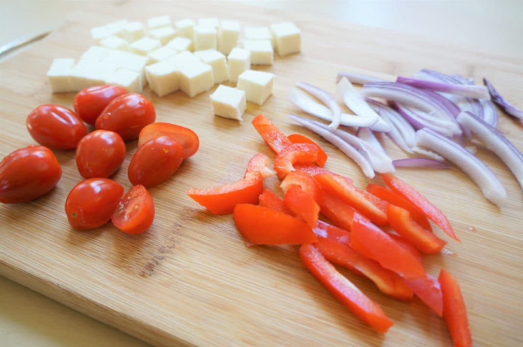 Veggies for Tandoori Paneer Naan Pizza Air Fryer Oven