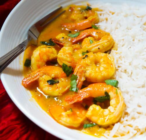 Coconut Shrimp Curry in Instant Pot Pressure Cooker