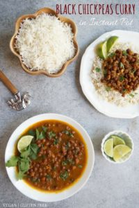 Insant Pot. Stovetop Kala Chana Black Chickpeas Curry