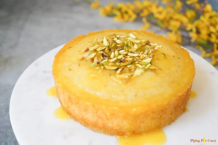 Orange Semolina Cake made in Instant Pot Pressure Cooker