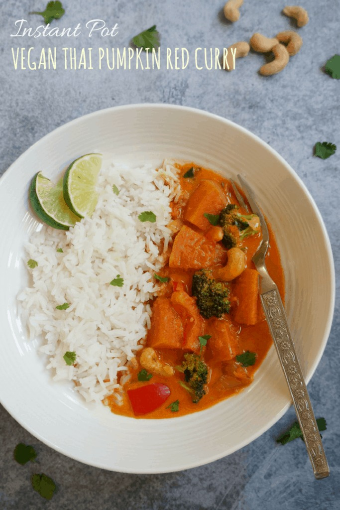 Thai Pumpkin Red Curry Instant Pot Pressure Cooker
