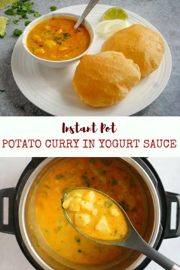 Dahi Vale Aloo / Instant Pot Potato Curry