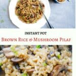 Brown Rice & Mushroom Pilaf Instant Pot Stovetop