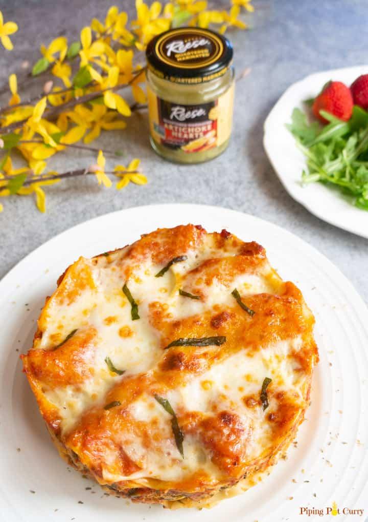 Instant Pot Spinach Artichoke Lasagna