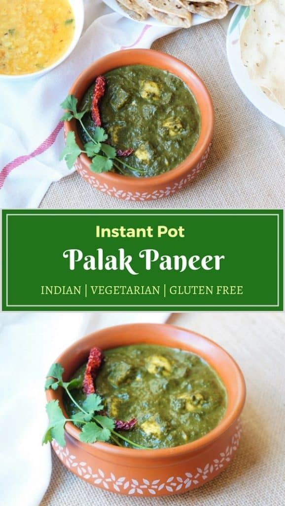 Palak Paneer Instant Pot Pressure Cooker.