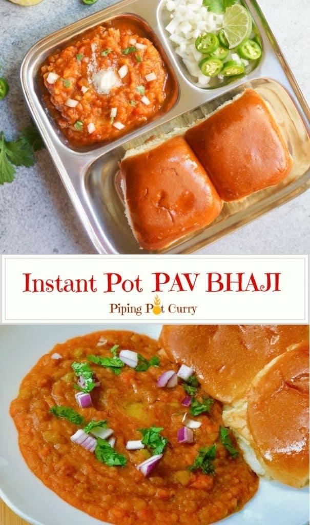 Pav Bhaji in Pressure Cooker