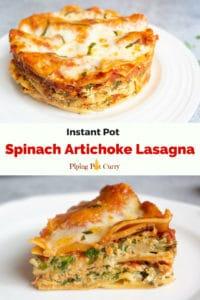 Spinach Artichoke Lasagna Instant Pot