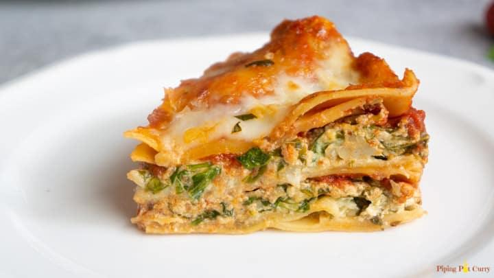 Spinach Artichoke Lasagna - Instant Pot