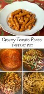 penne pasta tomato cream sauce instant pot.