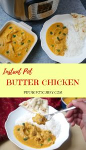 Butter Chicken Instant Pot Pressure Cooker