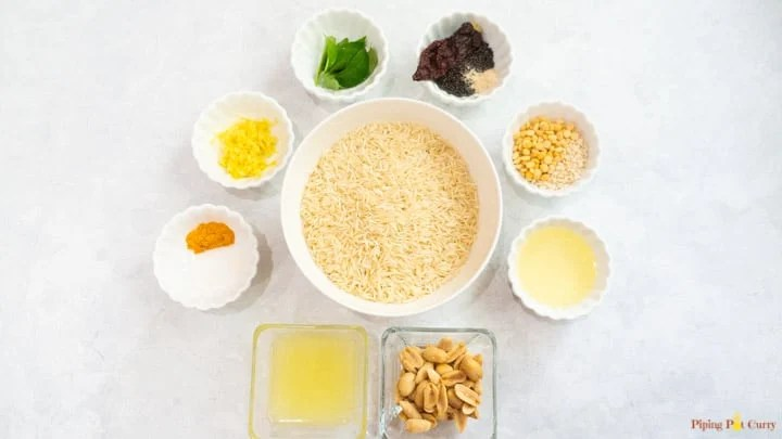 Instant Pot Lemon Rice Ingredients