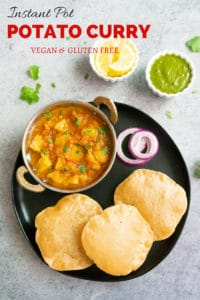 Instant Pot Potato Curry : Aloo Rasedar