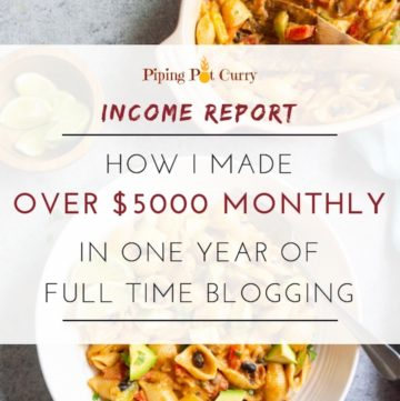 Food Blog Income Report - 1 year full-time