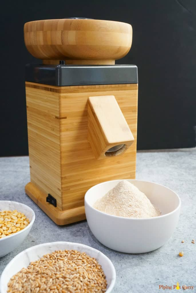 Nutrimill with freshly millled flour