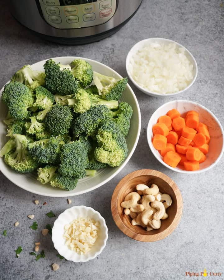 Pressure Cooker Cream of Broccoli Soup Ingredients