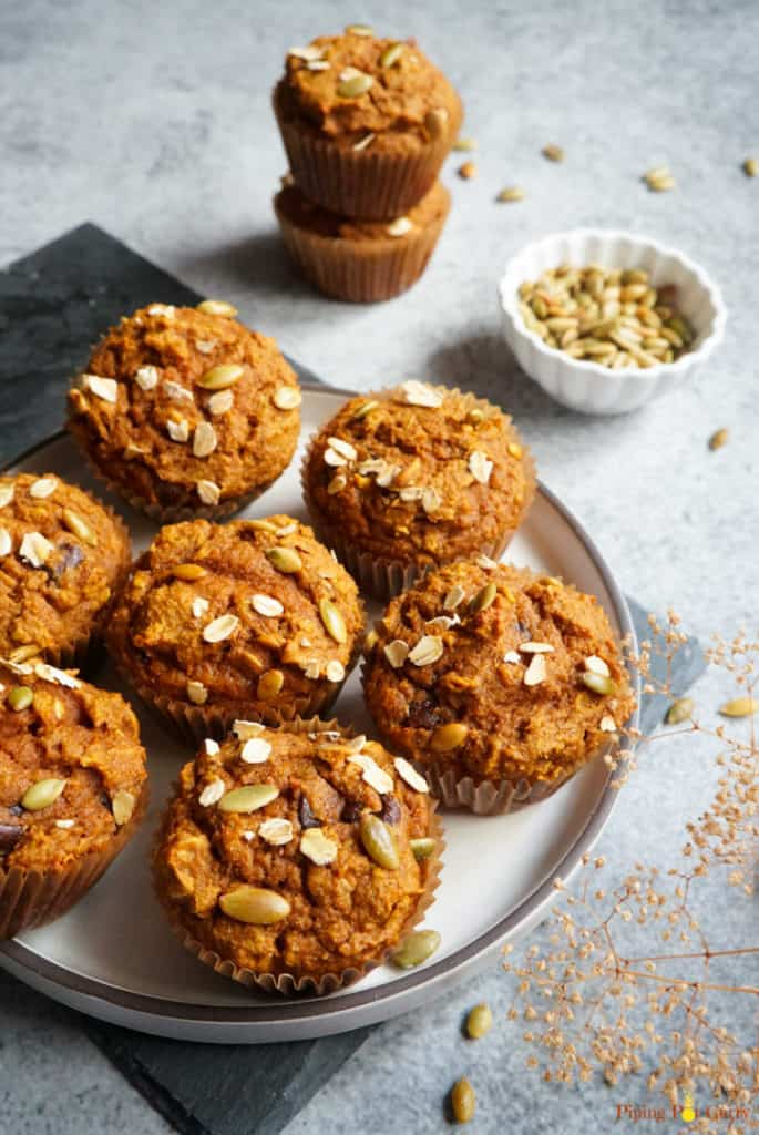 Healthy Whole Wheat Pumpkin Muffins