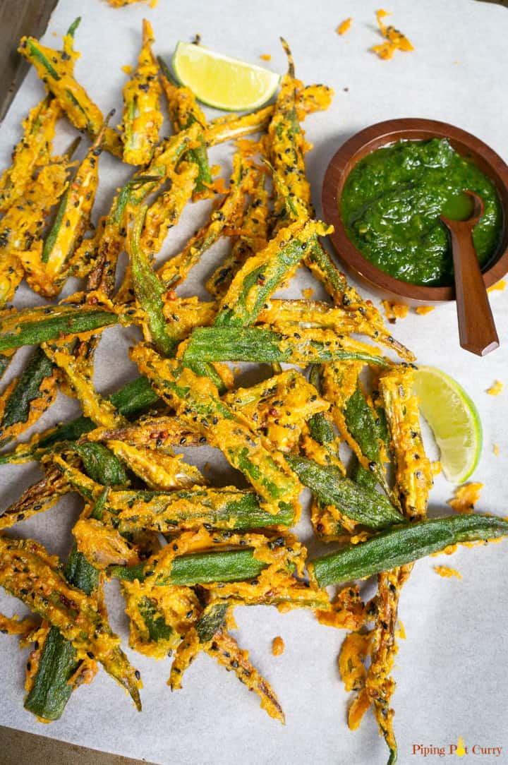 Kurkuri Bhindi after deep frying