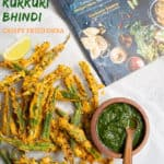 Kukuri Bhindi is sliced okra coated in spices and fried until crunchy. These crispy okra fries are so good, you cannot stop eating it. Make this as deep fried okra or air fryer okra. Enjoy as an appetizer or side dish to your meal!