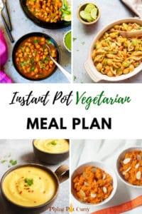 January Vegetarian Instant Pot Meal Plan