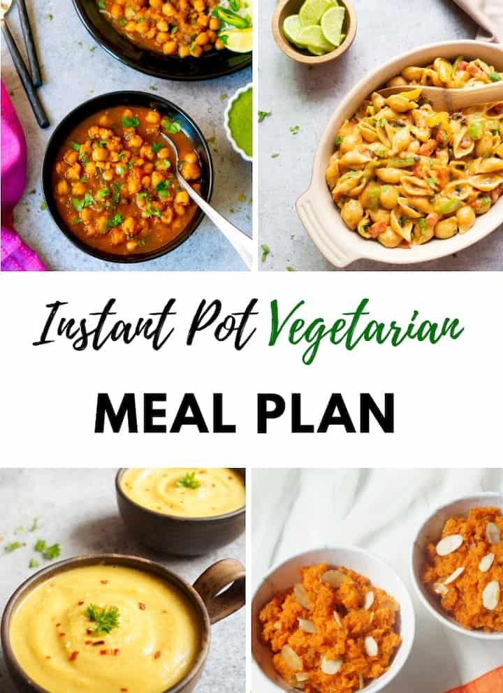 Vegetarian Instant Pot Meal Plan