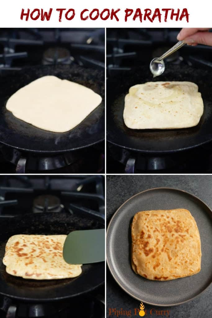 How to cook paratha steps - pan fried indian flatbread