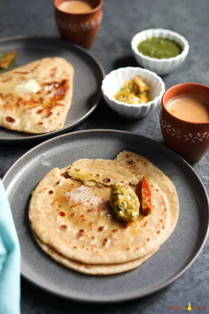 Paratha. Indian flatbread - Piping Pot Curry