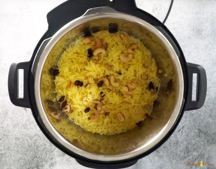 Zarda. Meethe Chawal - Ready in Instant Pot