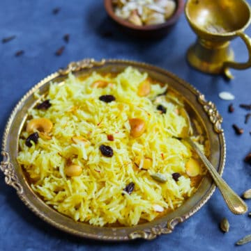 Zarda. Meethe Chawal, which is sweet rice in Instant Pot