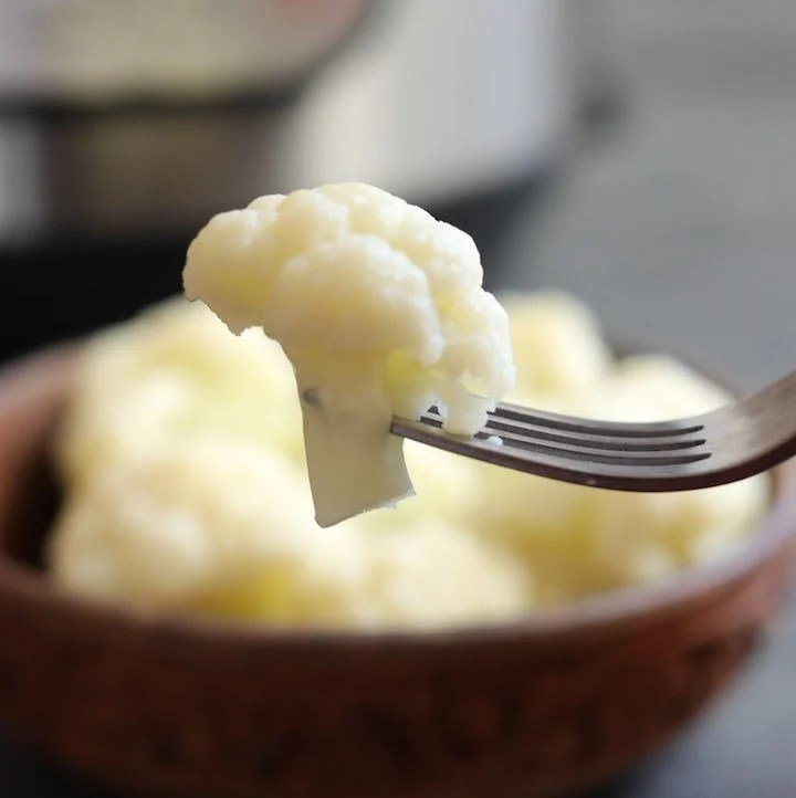 Perfectly Steamed Cauliflower in the Instant Pot