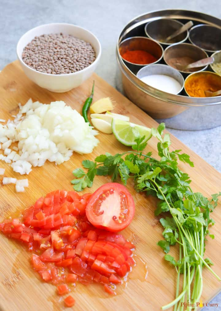 Ingredients for sabut Masoor Dal