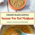 Dal Makhani made in the instant pot served in a bowl
