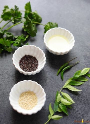 Ingredients to make Tempering for Dhokla