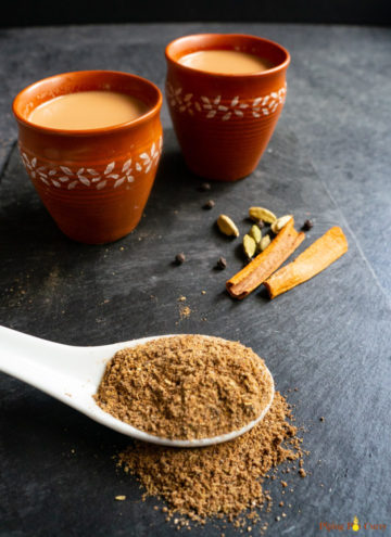 Chai Masala powder along with chai and whole spices