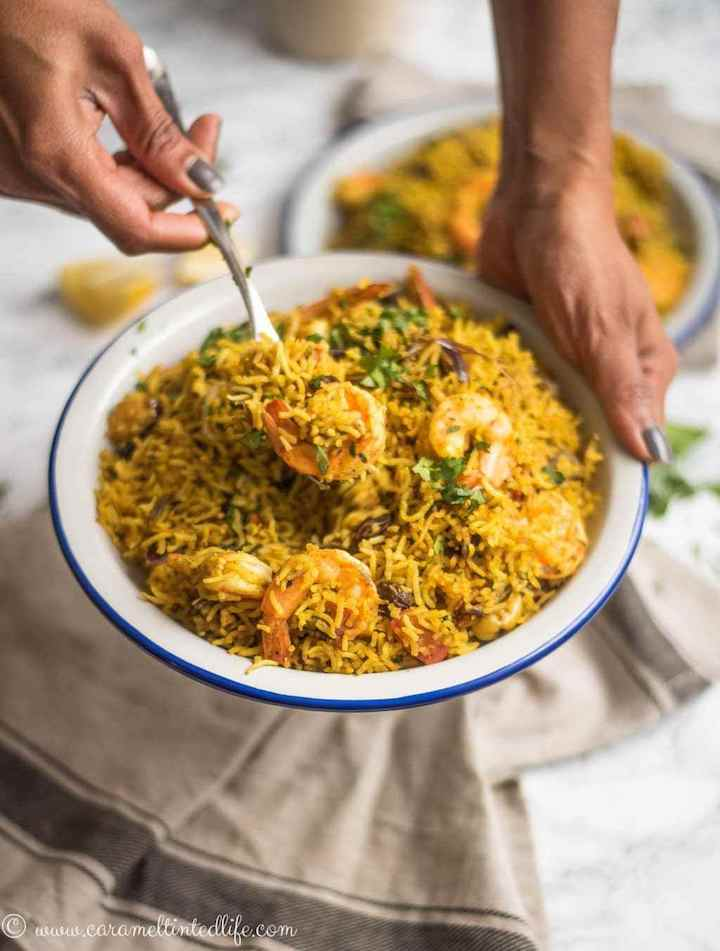 Shrimp Biryani rice
