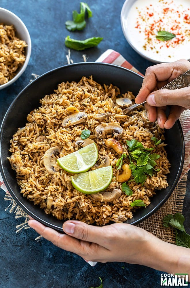 Mushroom Biryani Rice