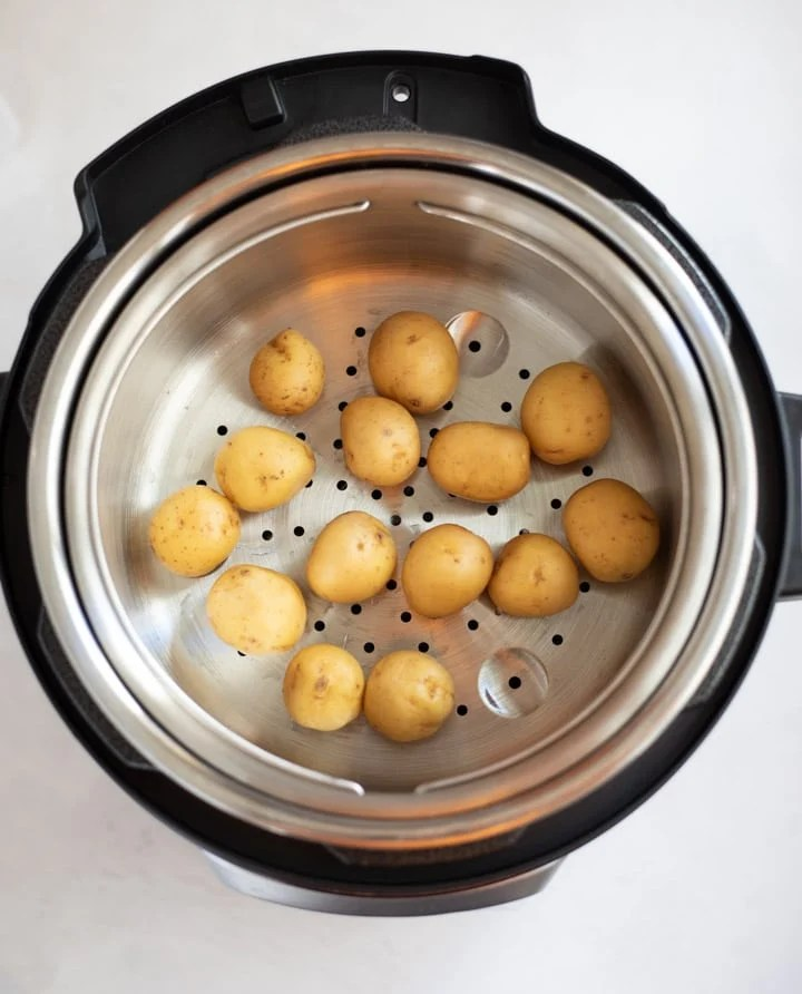 Steaming baby potatoes in instant pot