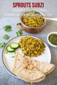 Vegan & Gluten-free sprouts stir fry subzi