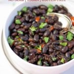 Mexican black beans in a bowl