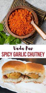 Vada Pav Spicy Garlic Chutney