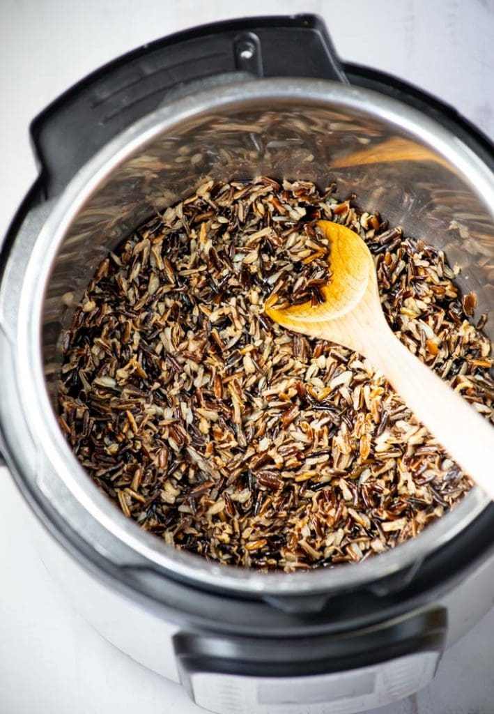 Wild rice cooked in instant pot