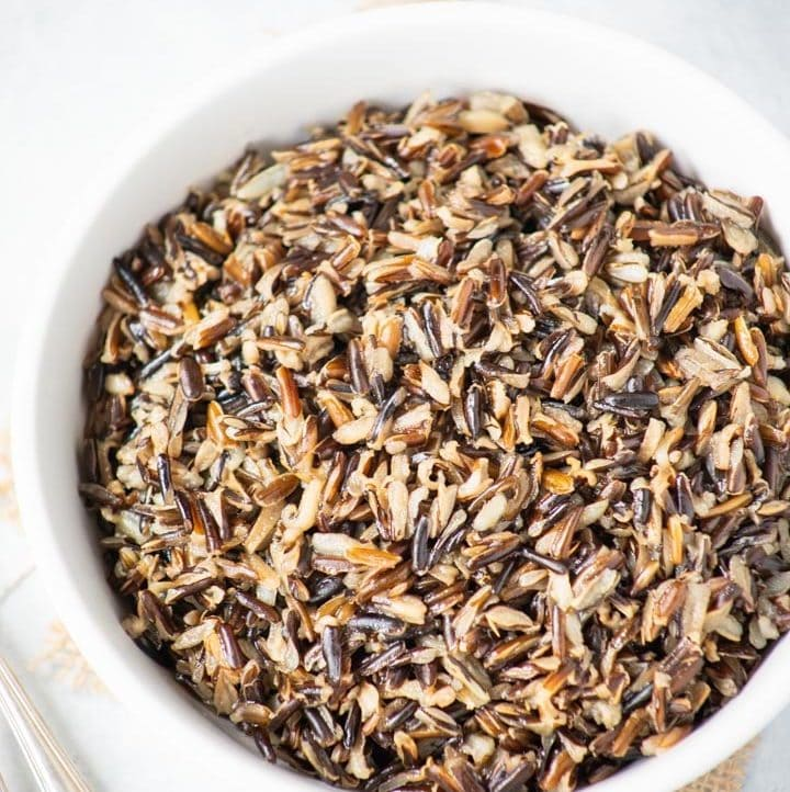 perfectly cooked Wild Rice in a bowl